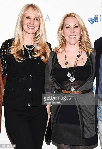 Sara HerbertGalloway and Heather Randall Lewis attend the 2016 Broadway Supports The NMA at Sardi's on March 24 2016 in New York City