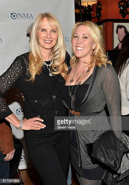 Sara HerbertGalloway and Heather Randall Lewis attend the preshow reception for annual 'Give Kids a Shot Gala Celebration' Broadway's support for The...