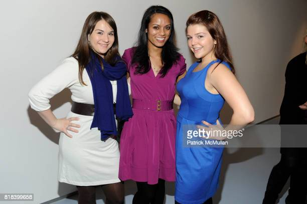Sara Hogan Danielle Billinkoff and Betsy Shelton attend DVF Art Ortenberg Celebrate the Liz Claiborne Fashion Scholarship at DVF Studio on February 3...