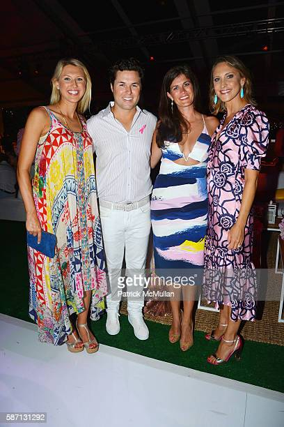 Sara Hughes Jackson Hughes Meghann Gunderman and Kinga Lampert attend the 2016 Hamptons Paddle Party for Pink Benefiting the Breast Cancer Research...