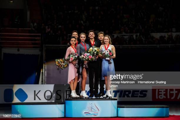 Sara Hurtado and Kirill Khaliavin of Spain Alexandra Stepanova and Ivan Bukin of Russia Christina Carreira and Anthony Ponomarenko of the United...