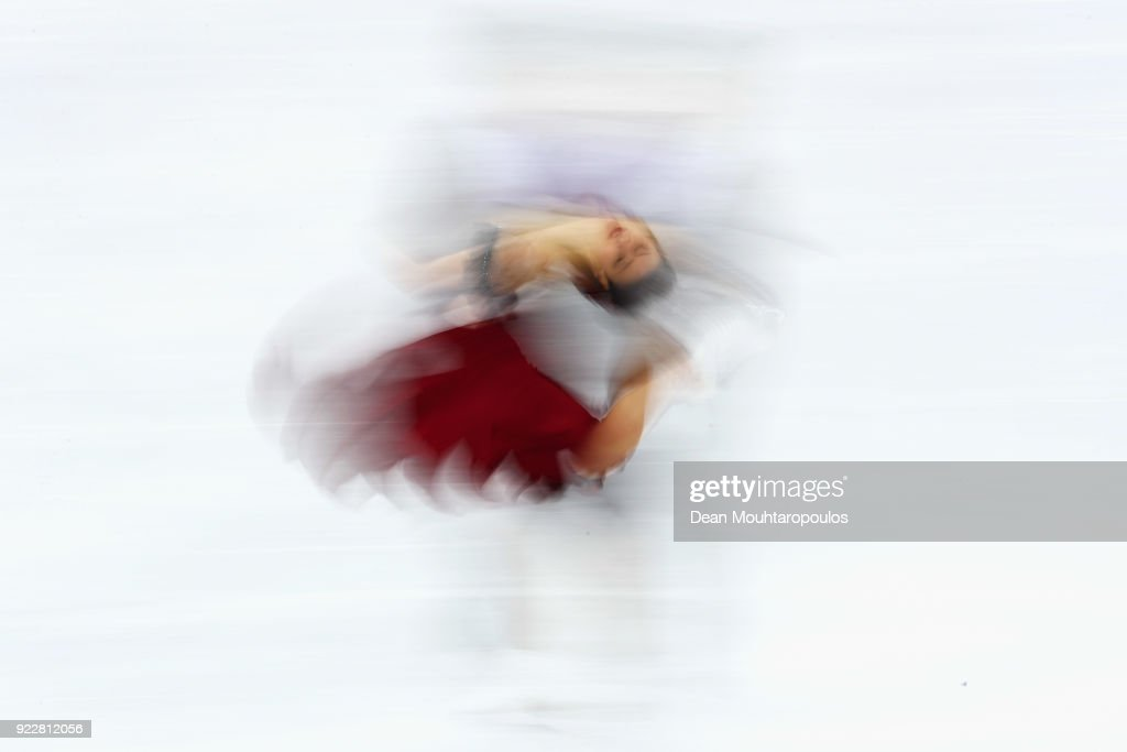 Sara Hurtado and Kirill Khaliavin of Spain compete in the Figure Skating Ice Dance Free Dance on day eleven of the PyeongChang 2018 Winter Olympic Games at Gangneung Ice Arena on February 20, 2018 in Gangneung, South Korea.