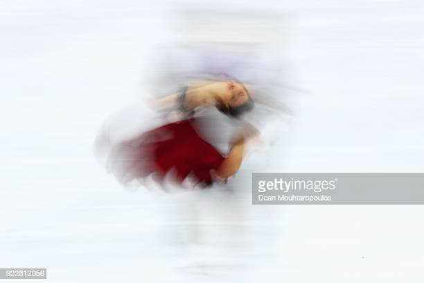 Sara Hurtado and Kirill Khaliavin of Spain compete in the Figure Skating Ice Dance Free Dance on day eleven of the PyeongChang 2018 Winter Olympic...