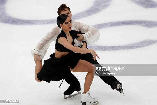 Sara HurtadoandKirill Khaliavin of Spain compete in the Ice Dance - Free Dance during the ISU Grand Prix of Figure Skating Rostelecom Cup at...