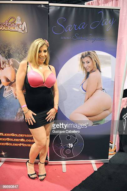 Sara Jay attends Exxxotica Miami Beach at the Miami Beach Convention Center on May 15 2010 in Miami Beach Florida