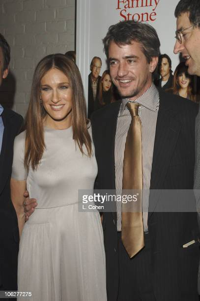 Sara Jessica Parker and Dermot Mulroney during The Family Stone Los Angeles Premiere Red Carpet in Westwood California United States