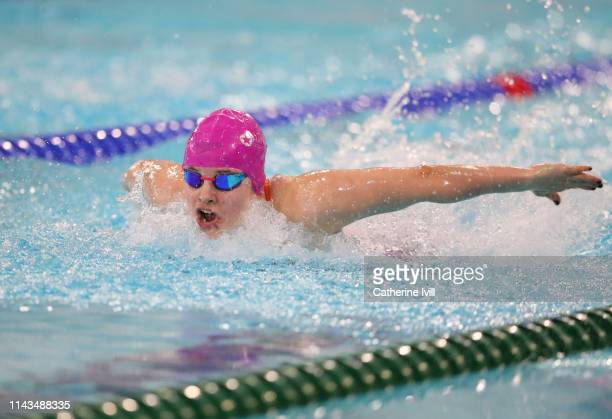 Sara Kalawska competes in the Women's 200m Butterfly heats during Day Three of the British Swimming Championships 2019 at Tollcross International...