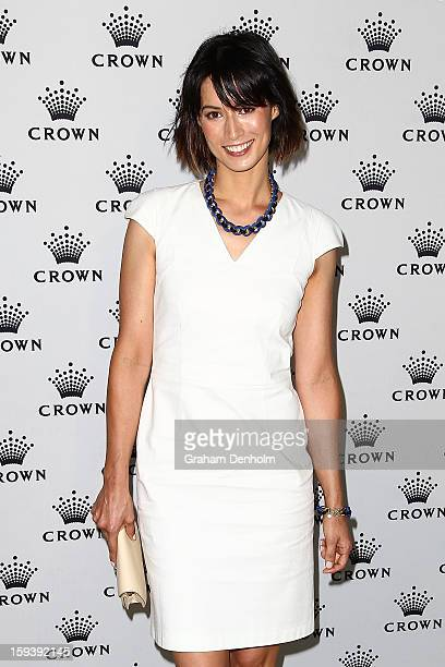 Sara Kirby arrives at Crown's IMG Tennis Player's Party at Crown Towers on January 13 2013 in Melbourne Australia