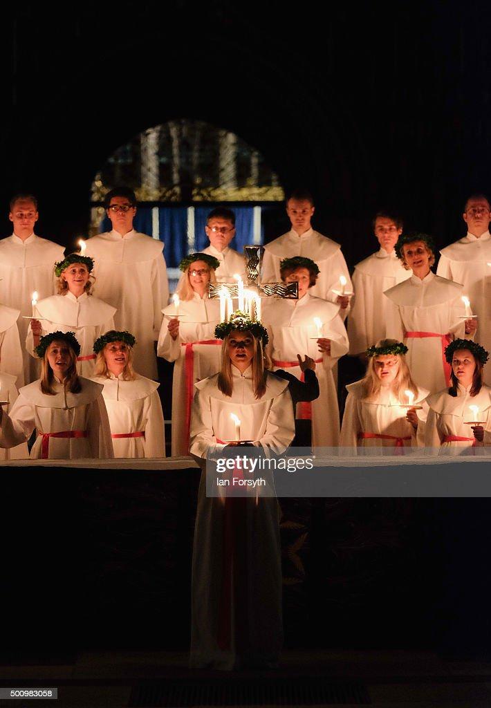 The Annual Sankta Lucia Festival Of Light : News Photo