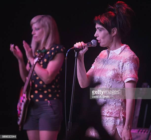 Sara Landeau and Kathleen Hanna of The Julie Ruin perform at Saturn Birmingham on August 14 2016 in Birmingham Alabama