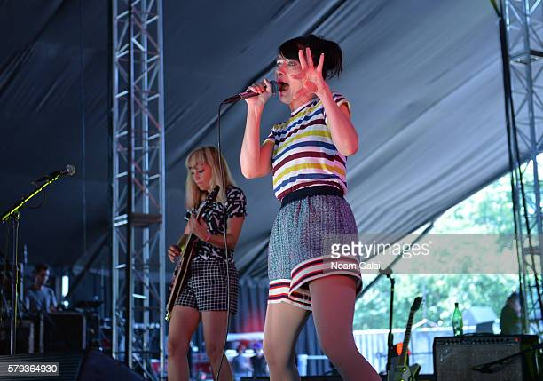 Sara Landeau Kathleen Hanna of The Julie Ruin perform onstage at the 2016 Panorama NYC Festival Day 2 at Randall's Island on July 23 2016 in New York...