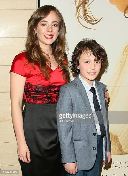 Sara Lazzaro and Adam Greaves Neal attend the screening of Focus Features' The Young Messiah on March 10 2016 in Los Angeles California