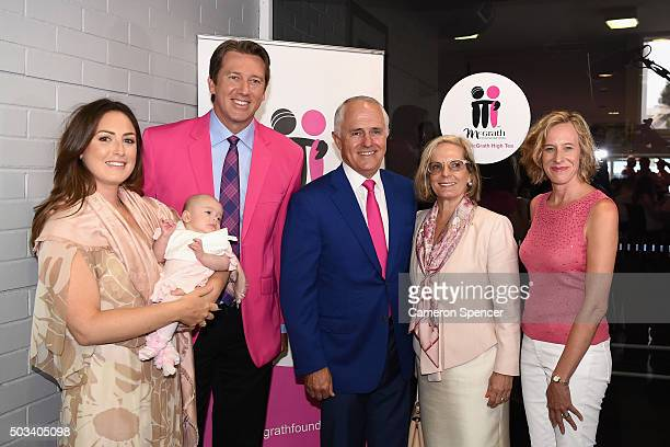 Sara LeonardiMcGrath Glenn McGrath Prime Minister Malcolm Turnbull Lucy Turnbull and McGrath Foundation CEO Petra Buchanan pose at the McGrath Day...