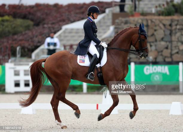 Sara Lockman of USA riding First Apple competes during Equestrian Dressage Individual Intermediate I / Grand Prix Special at Army Equestrian Schoolon...