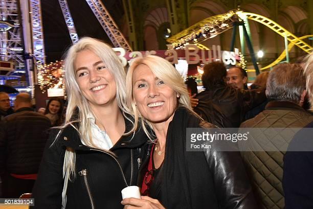 Sara Luna Leconte and her mother Marie Sara Bourseiller attend the 'Jours de Fete au Grand Palais' Fete foraine Opening at Grand Palais on December...