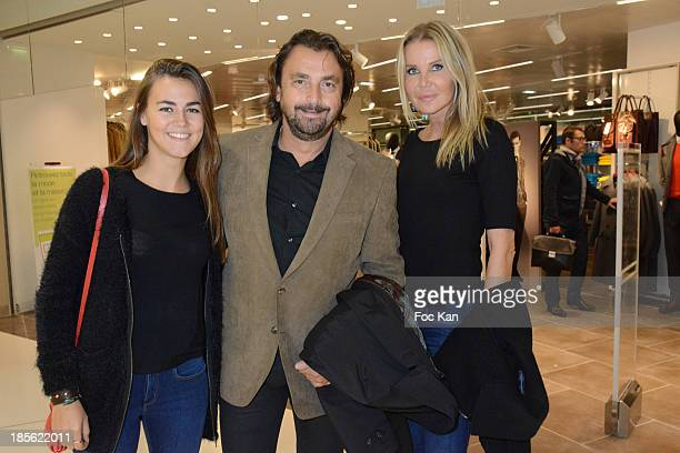Sara Luna Leconte Henri Leconte and Florentine Leconte attend the 'Marks And Spencer' Opening Cocktail Party at Centre Commercial Beaugrennelle on...