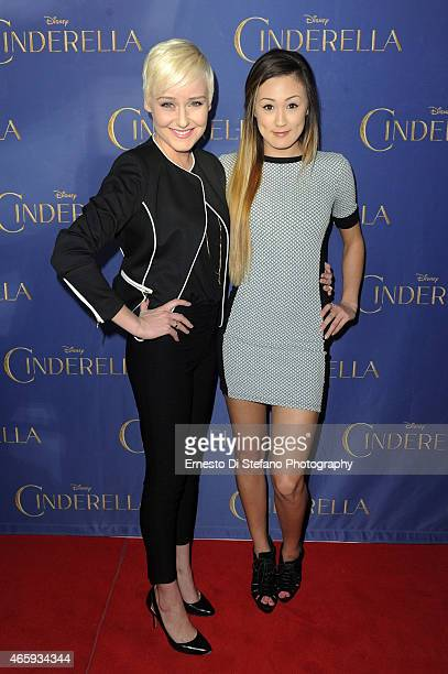 Sara Lynn Cauchon and Lauren Riihimaki attend the Toronto Special screening of Disney's Cinderella at Scotiabank Theatre on March 11 2015 in Toronto...