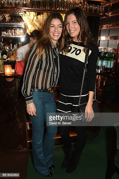 Sara MacDonald and Amanda Sheppard attend the Rodial dinner hosted by Poppy Delevingne and Maria Hatzistefanis at Casa Cruz on January 16 2017 in...