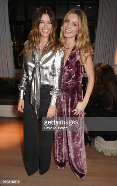 Sara Macdonald and Annabelle Wallis attend the launch of Teresa Tarmey's new 'at home facial system' at Mortimer House sponsored by CIROC on January...