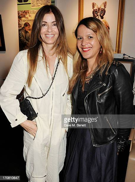 Sara Macdonald and Lisa Moorish attend the Diversity In Care charity auction at Opera Gallery on June 18 2013 in London England