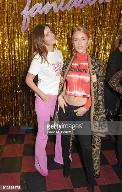 Sara Macdonald and Mary Charteris attend the ALEXACHUNG Fantastic collection party on January 30 2018 in London England