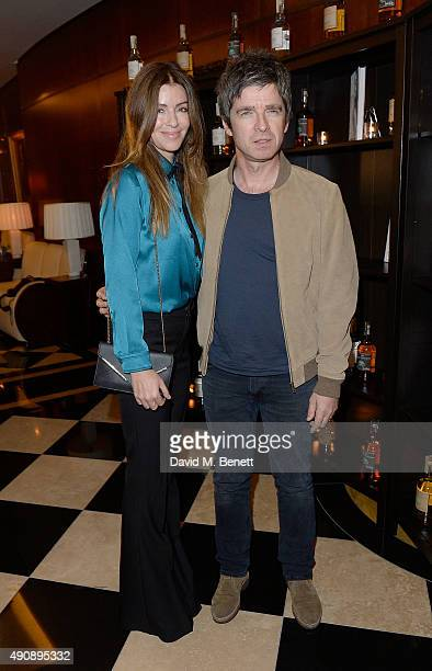 Sara MacDonald and Noel Gallagher arrive at the London launch of Casamigos Tequila and Cindy Crawford's book 'Becoming' hosted by Rande Gerber George...