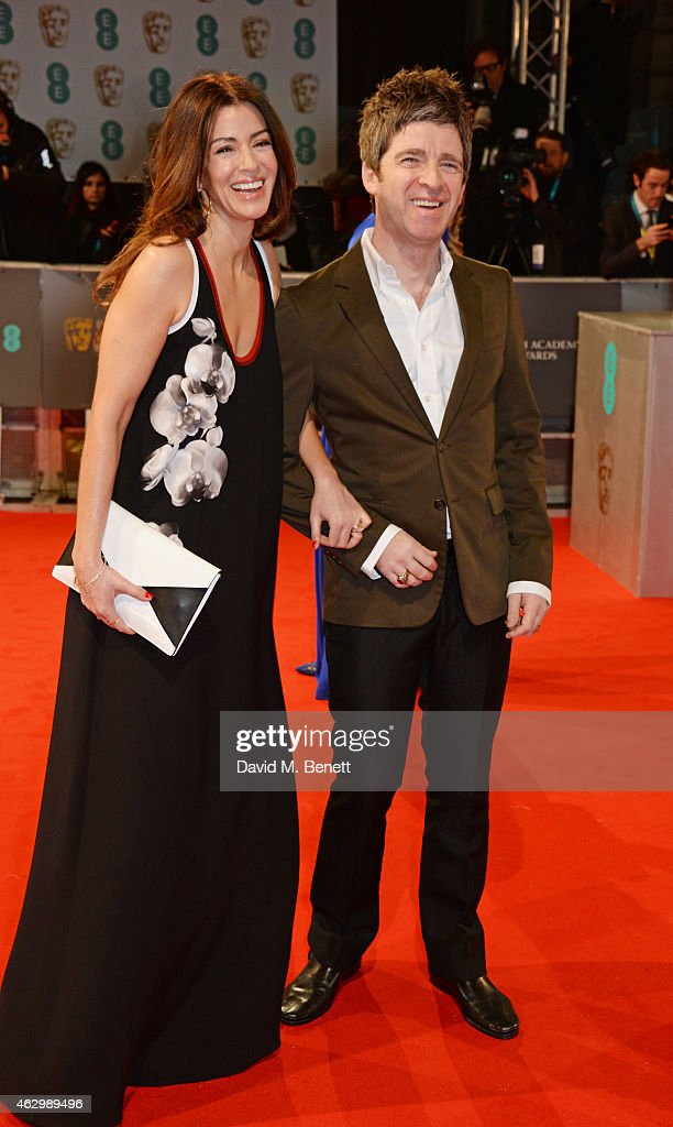 Sara Macdonald (L) and Noel Gallagher attend the EE British Academy Film Awards at The Royal Opera House on February 8, 2015 in London, England.