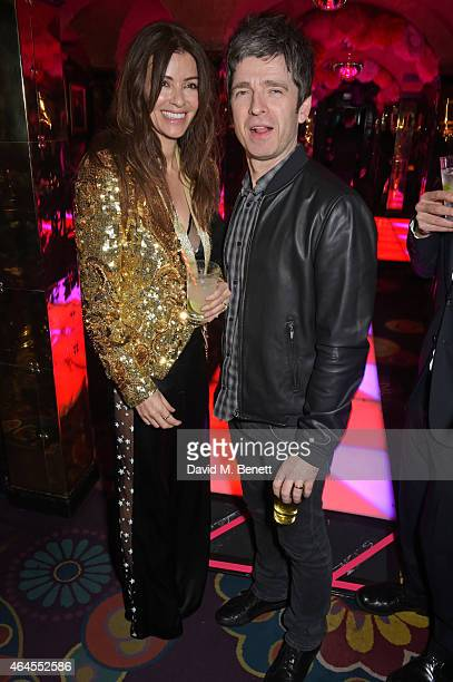 Sara Macdonald and Noel Gallagher attend the Mert Marcus House of Love party for Madonna at Annabel's on February 26 2015 in London England
