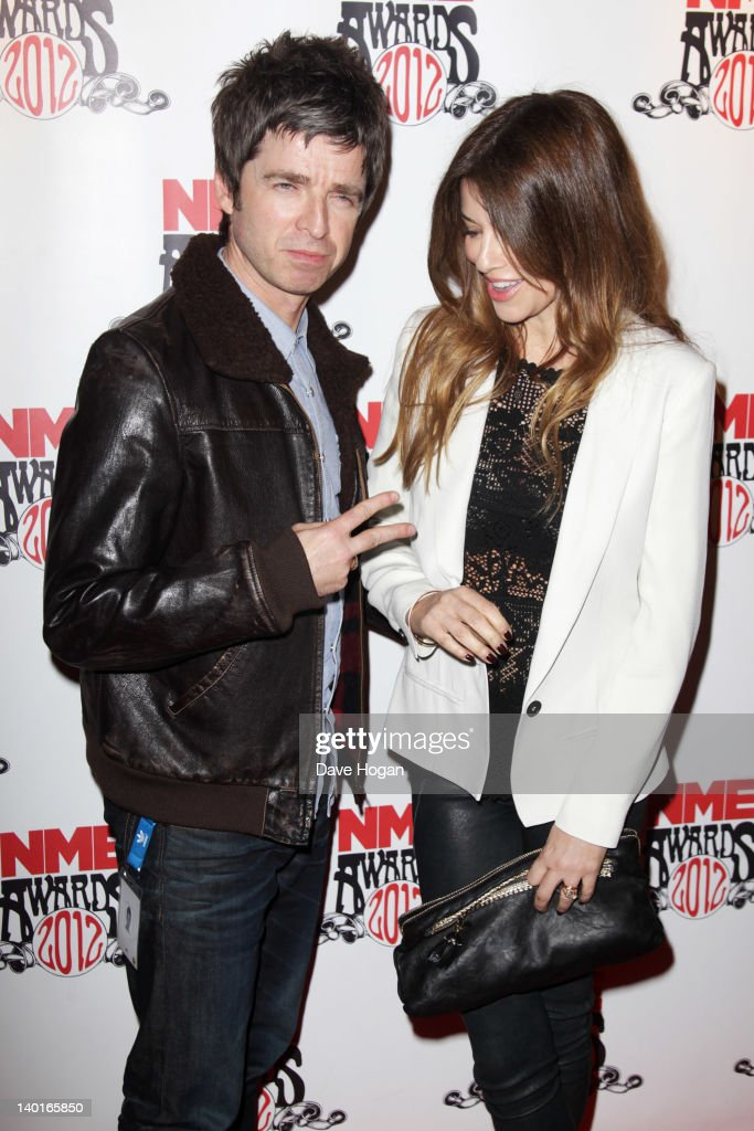 Sara MacDonald and Noel Gallagher attend the NME Awards 2012 at Brixton Academy on February 29, 2012 in London, England.