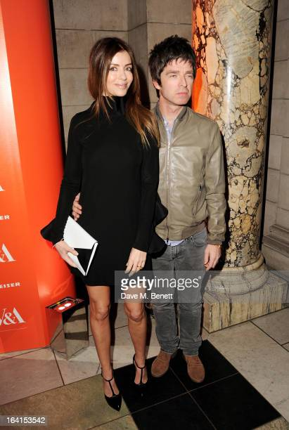 Sara MacDonald and Noel Gallagher attend the private view for the 'David Bowie Is' exhibition in partnership with Gucci and Sennheiser at the...