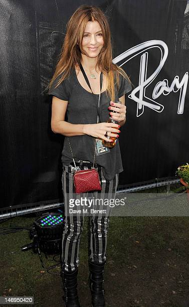 Sara MacDonald attends the RayBan Rooms during day three of the Isle of Wight Festival at Seaclose Park on June 24 2012 in Newport Isle of Wight