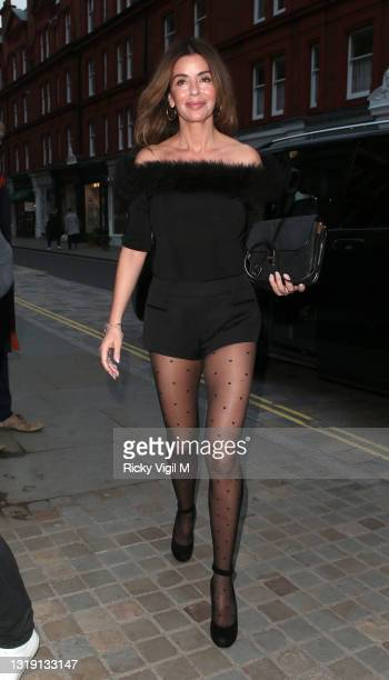 Sara MacDonald seen on a night out at Chiltern Firehouse on May 20, 2021 in London, England.