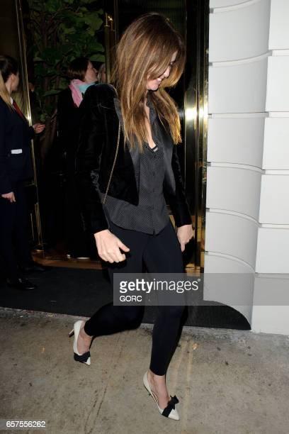 Sara MacDonald sighting at Isabels restaurant Mayfair on March 24 2017 in London England