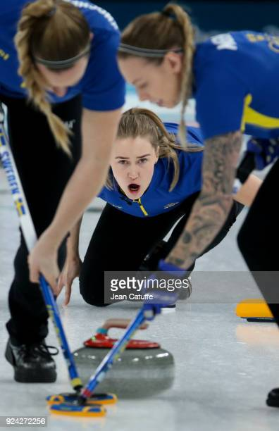 Sara McManus of Sweden during the Women's Gold Medal game between Sweden and South Korea at the 2018 PyeongChang Winter Olympic Games at Gangneung...