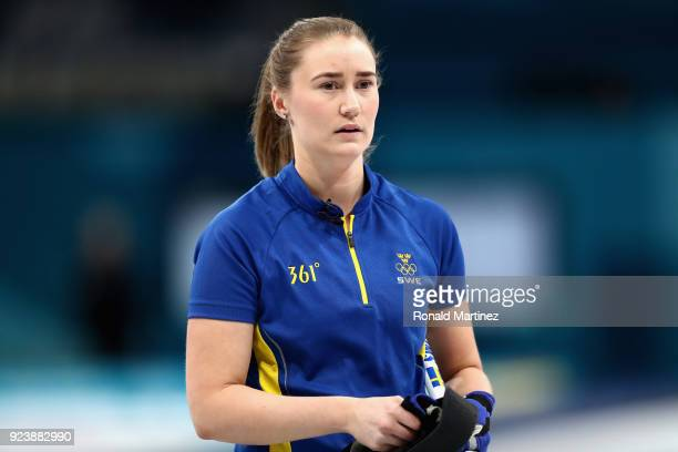 Sara McManus of Sweden looks on during the Women's Gold Medal Game between Sweden and Korea on day sixteen of the PyeongChang 2018 Winter Olympic...