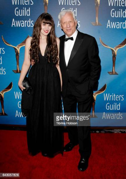 Sara Miller and James Woods attend the 2017 Writers Guild Awards L.A. Ceremony at The Beverly Hilton Hotel on February 19, 2017 in Beverly Hills,...