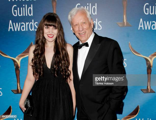 Sara Miller and James Woods attend the 2017 Writers Guild Awards LA Ceremony at The Beverly Hilton Hotel on February 19 2017 in Beverly Hills...