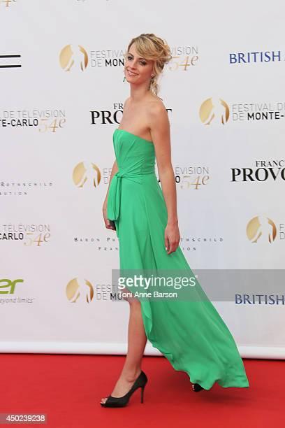 Sara Mortensen attends the opening ceremony of the 54th Monte Carlo TV Festival at the Grimaldi Forum on June 7 2014 in MonteCarlo Monaco