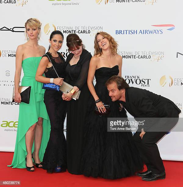 Sara Mortensen Fabienne Carat Cecilia Hornus and Lea Francois and cast of Plus Belle La Vie attend the opening ceremony of the 54th Monte Carlo TV...