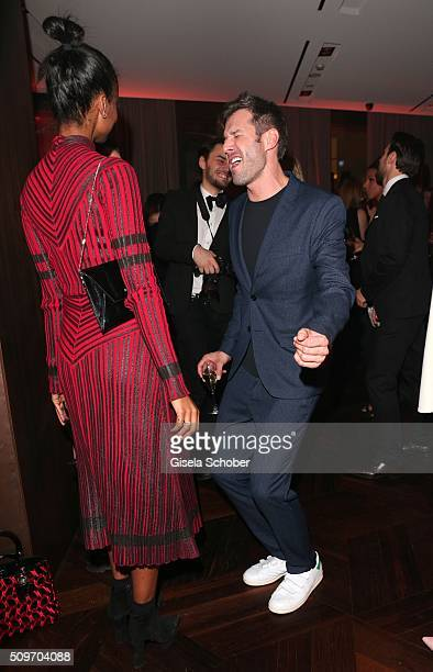 Sara Nuru and Jochen Schropp dance during the 'Berlin Opening Night of GALA UFA Fiction' at Das Stue Hotel on February 11 2016 in Berlin Germany