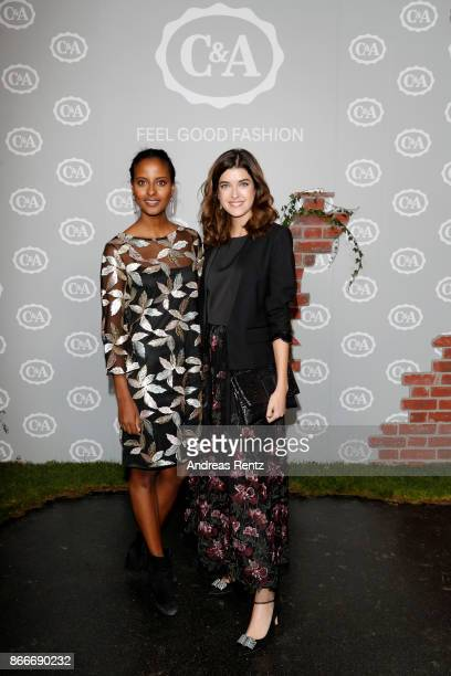 Sara Nuru and Marie Nasemann attend the CA collection preview Spring/Summer 18 on October 26 2017 in Duesseldorf Germany CA presents their latest...