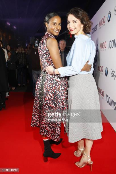 Sara Nuru and Nadine Warmuth attend the Young ICONs Award in cooperation with ICONIST at SpindlerKlatt on February 14 2018 in Berlin Germany