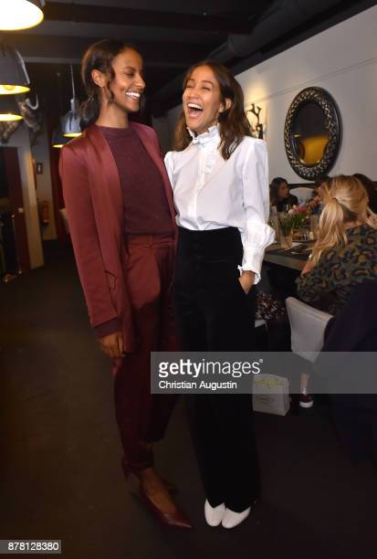 Sara Nuru and Rabea Schif attend the Grazia Future Dinner event at the restaurant Patio on November 23 2017 in Hamburg Germany