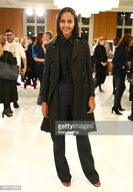Sara Nuru arrives for the 'Icons in Fashion' vernissage during the Der Berliner Mode Salon A/W 2017 at Kronprinzenpalais on January 19 2017 in Berlin...