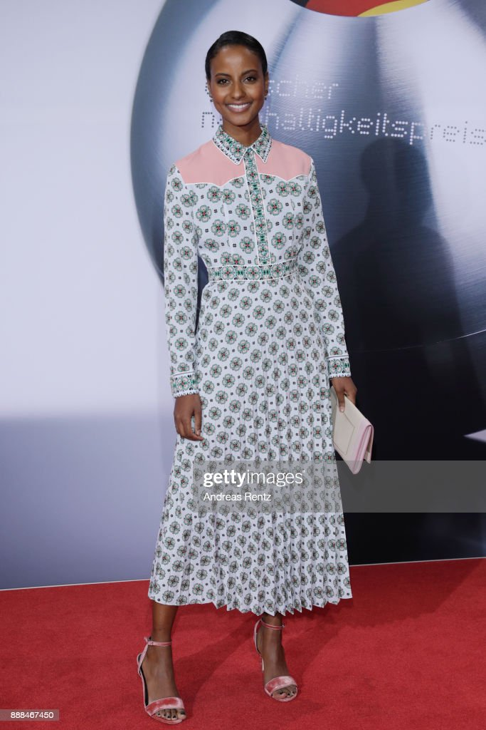 Sara Nuru attends the German Sustainability Award ( Deutscher Nachhaltigkeitspreis ) at Maritim Hotel on December 8, 2017 in Duesseldorf, Germany.
