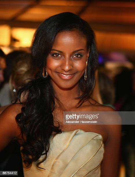 Sara Nuru attends the 'Movie Meets Media' party at discotheque P1 on June 29 2009 in Munich Germany