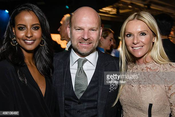 Sara Nuru Christian and Sandra Gries attend the Tribute To Bambi 2014 at Station on September 25 2014 in Berlin Germany