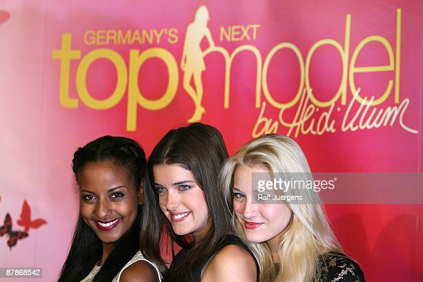 Sara Nuru Marie Nasemann Mandy Bork attend a photocall for PRO7 TV show 'Germany's Next Topmodel' on May 20 2009 in Cologne Germany