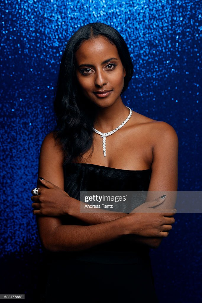 Sara Nuru, wearing jewelry by Bulgari, poses backstage at the GQ Men of the year Award 2016 (german: GQ Maenner des Jahres 2016) at Komische Oper on November 10, 2016 in Berlin, Germany.