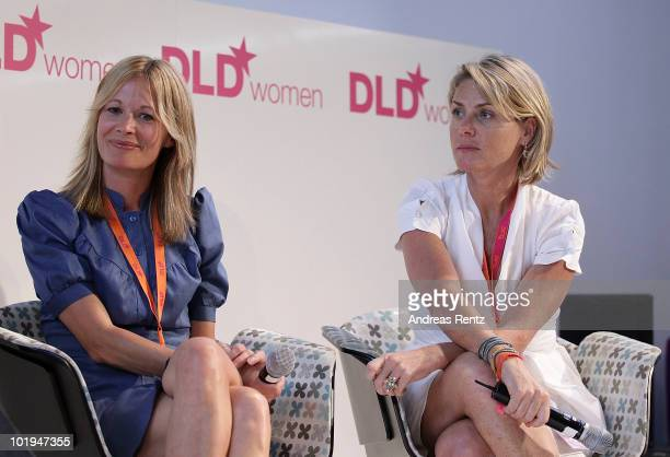 Sara Oehrvall and Annelies van den Belt attend the Digital Life Design women conference at the Centre for New Technologies at Deutsches Museum on...